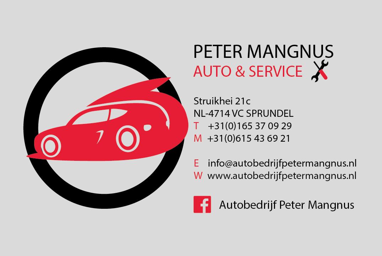 Portfolio - Visitekaartjes Autobedrijf Voorkant