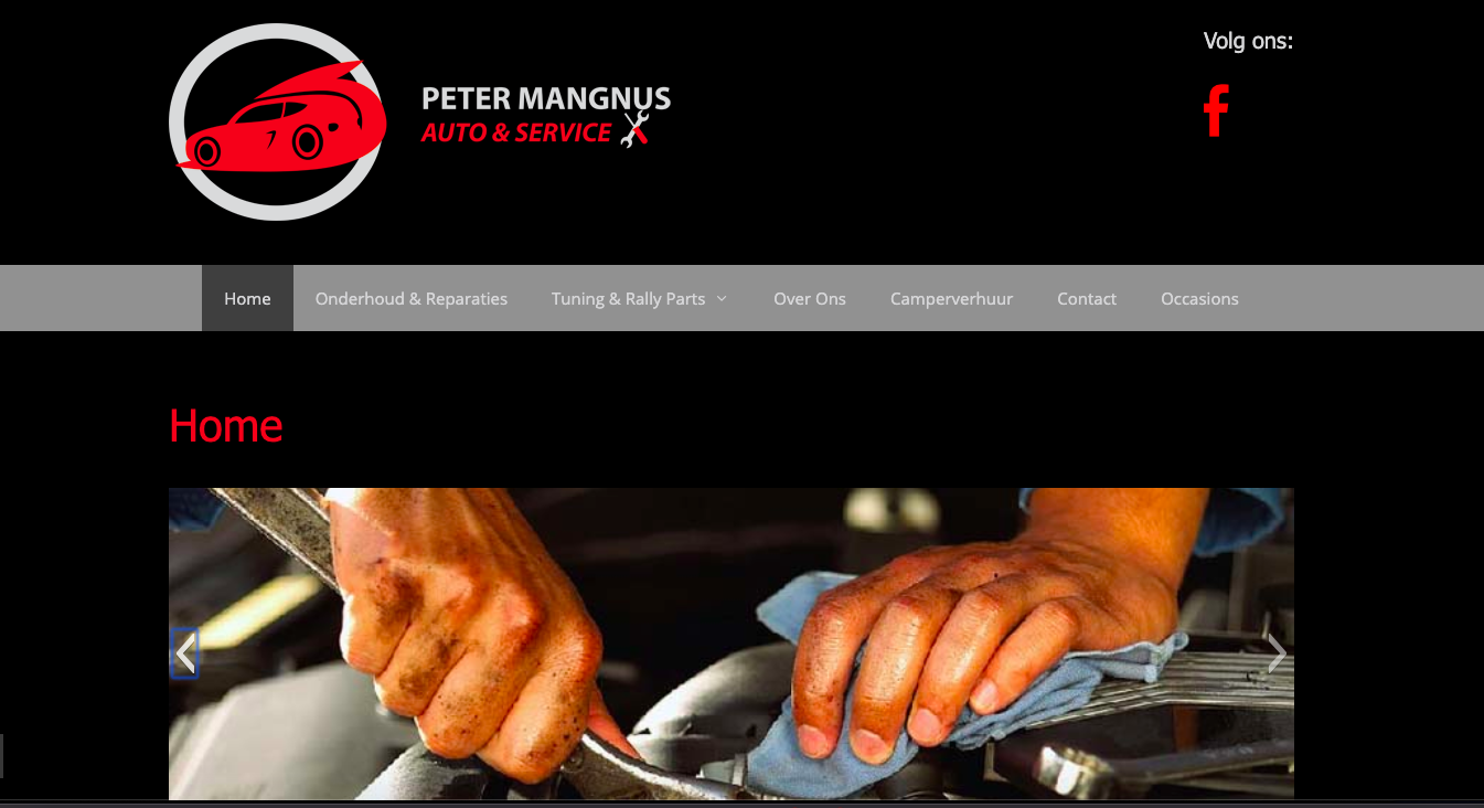 Portfolio - Website Autobedrijf